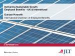 delivering sustainable growth employee benefits uk international