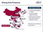 strong asia presence