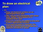 to draw an electrical plan14