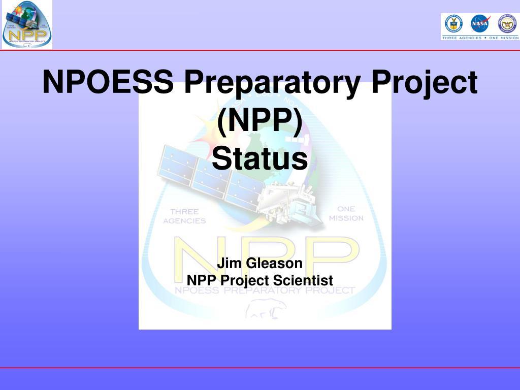 npoess preparatory project npp status