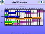 npoess schedule