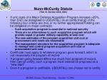 nunn mccurdy statute title 10 section 2433 usc