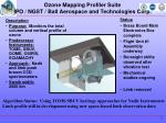 ozone mapping profiler suite ipo ngst ball aerospace and technologies corp