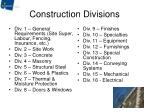 construction divisions