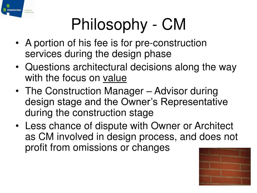 Philosophy - CM