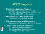 aces programs
