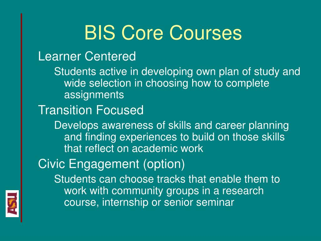 BIS Core Courses
