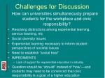 challenges for discussion26
