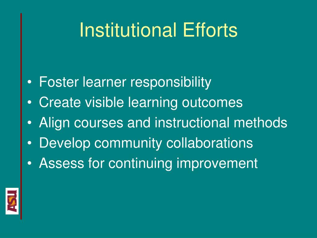 Institutional Efforts