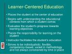 learner centered education