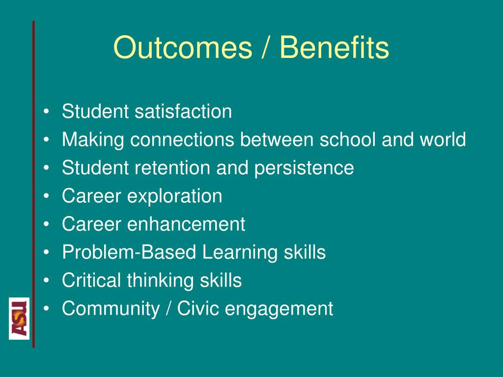 Outcomes / Benefits