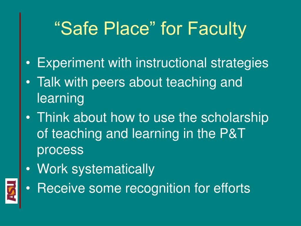 """Safe Place"" for Faculty"