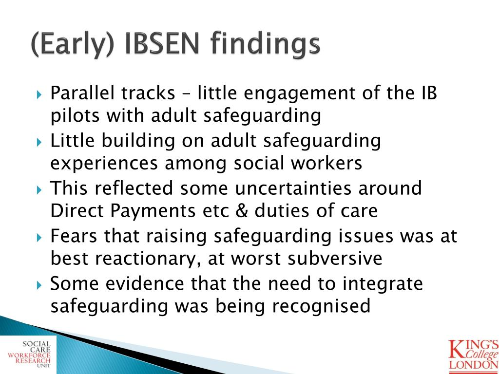 (Early) IBSEN findings