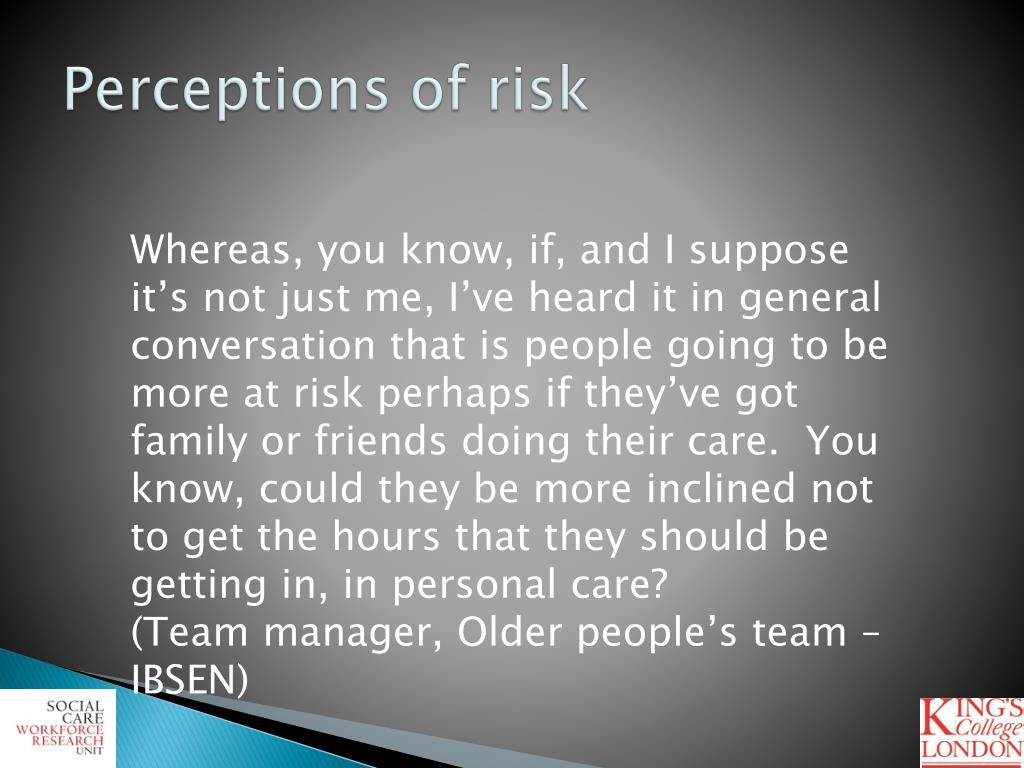 Perceptions of risk