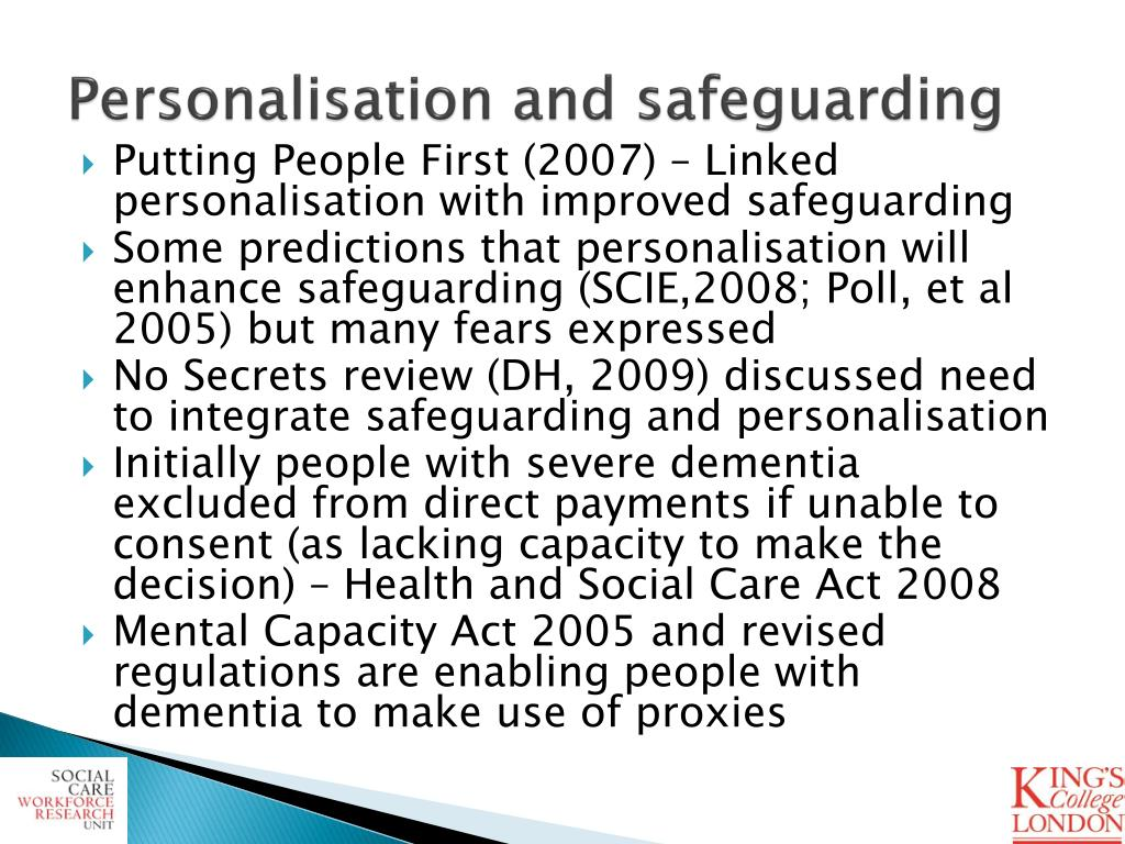 Personalisation and safeguarding