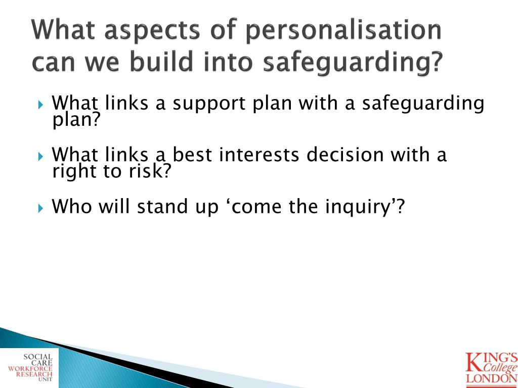 What aspects of personalisation