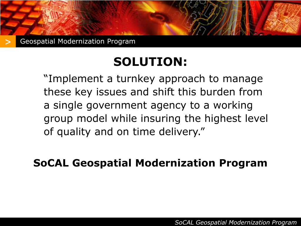 Geospatial Modernization Program