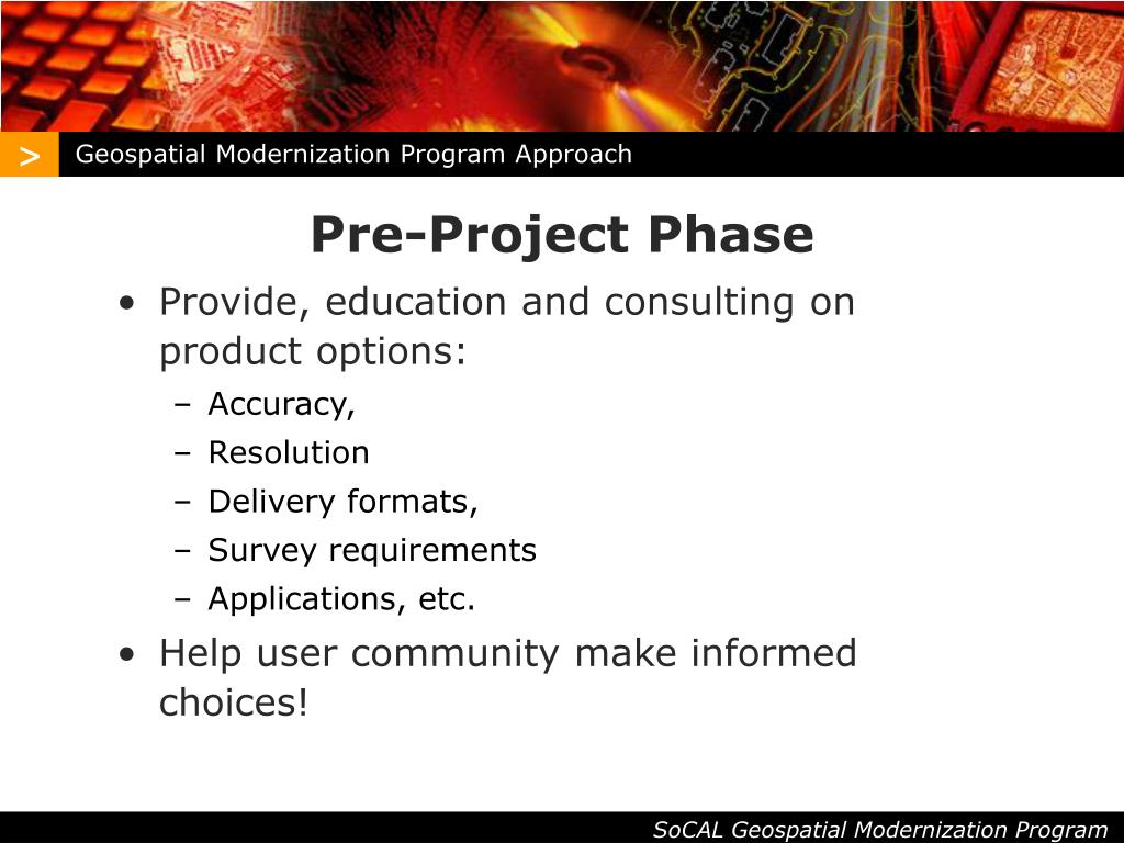 Geospatial Modernization Program Approach