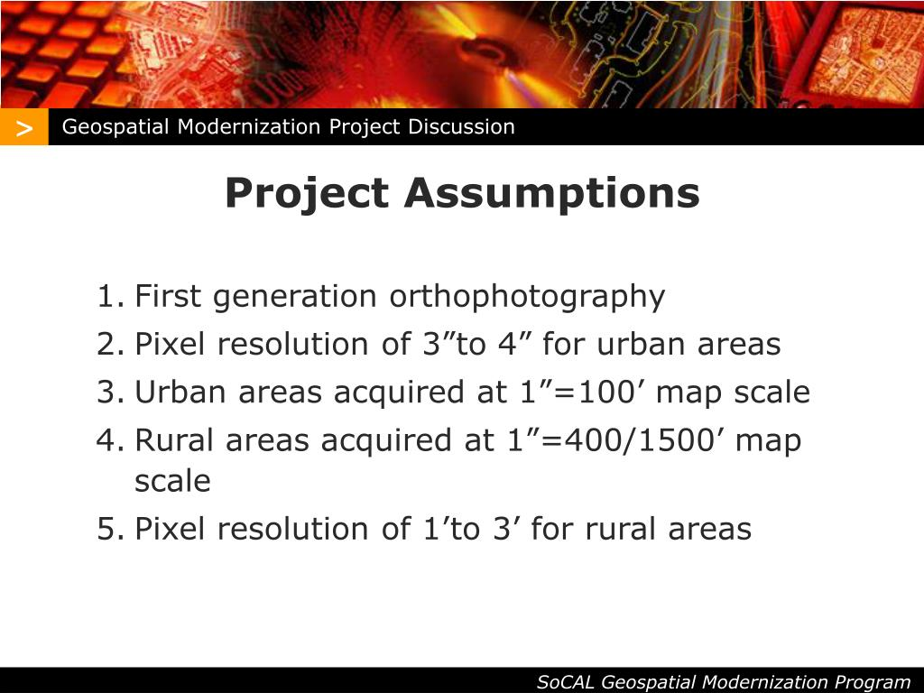 Geospatial Modernization Project Discussion