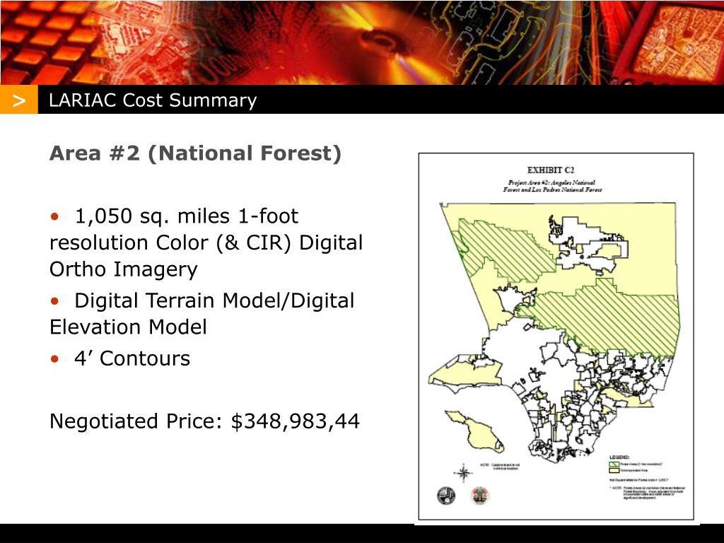 LARIAC Cost Summary