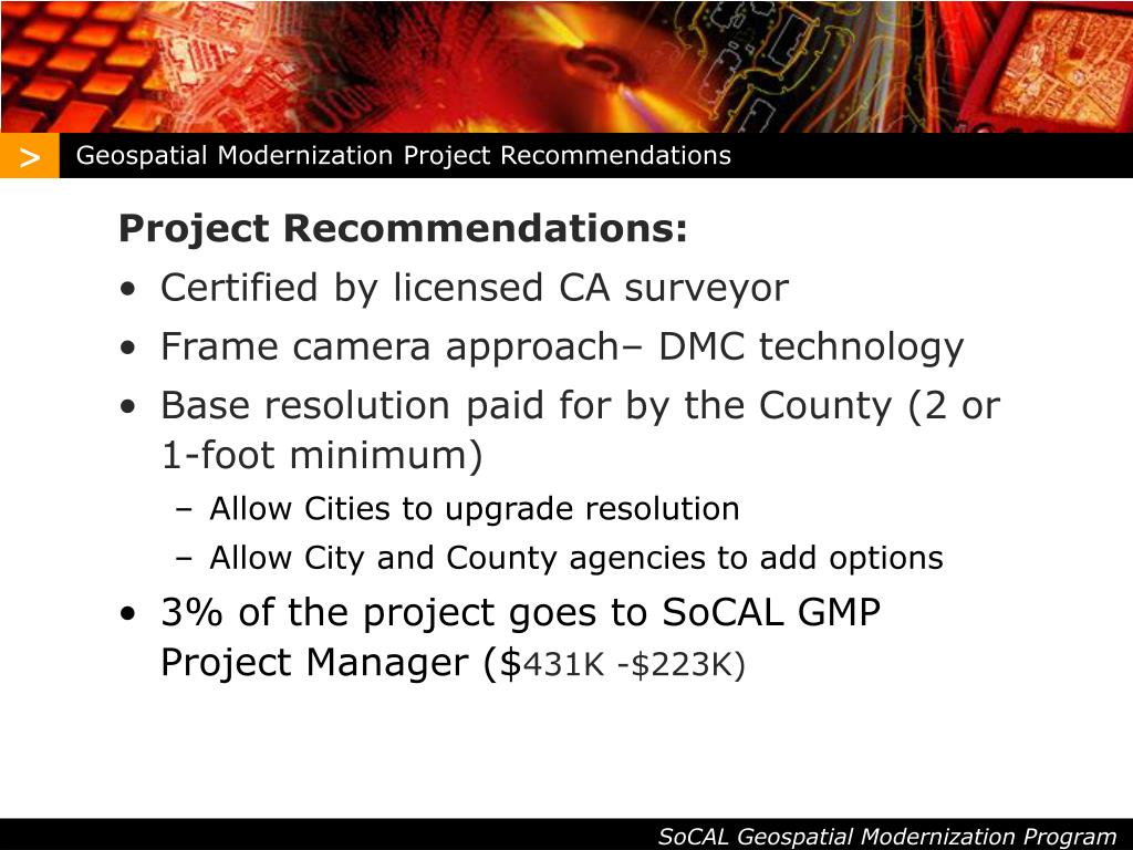 Geospatial Modernization Project Recommendations