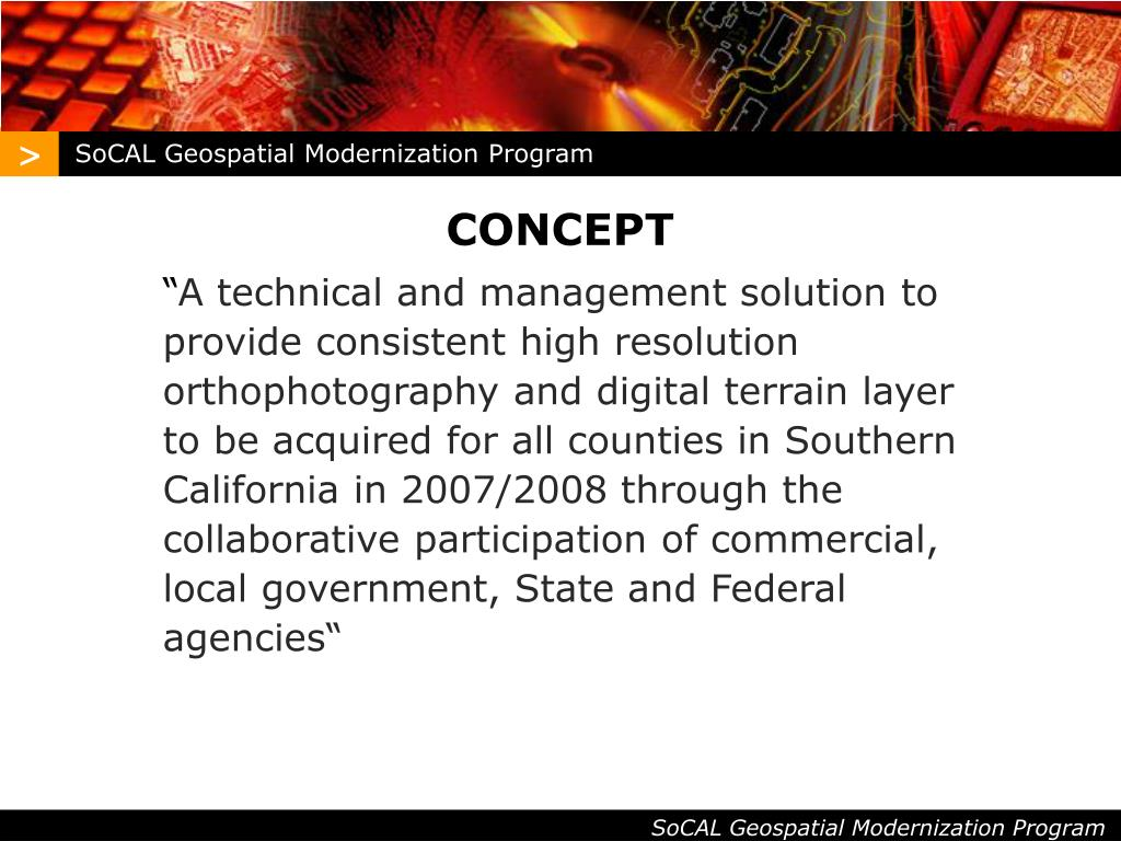 SoCAL Geospatial Modernization Program
