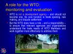 a role for the wto monitoring and evaluation