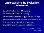 understanding the evaluation framework