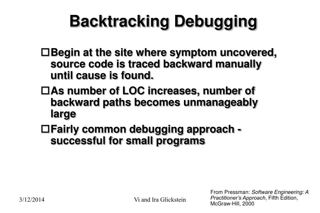 Backtracking Debugging