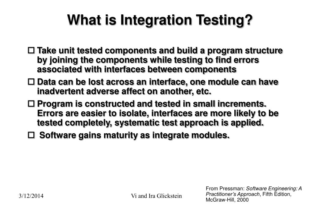 What is Integration Testing?