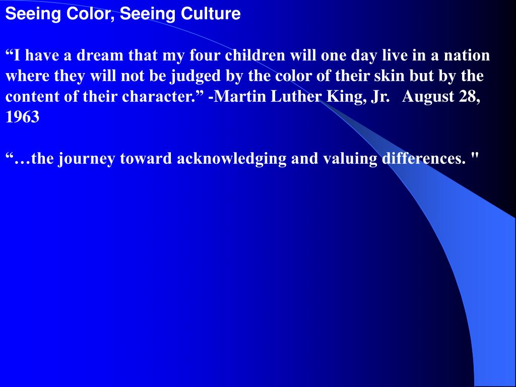 Seeing Color, Seeing Culture