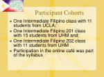 participant cohorts10