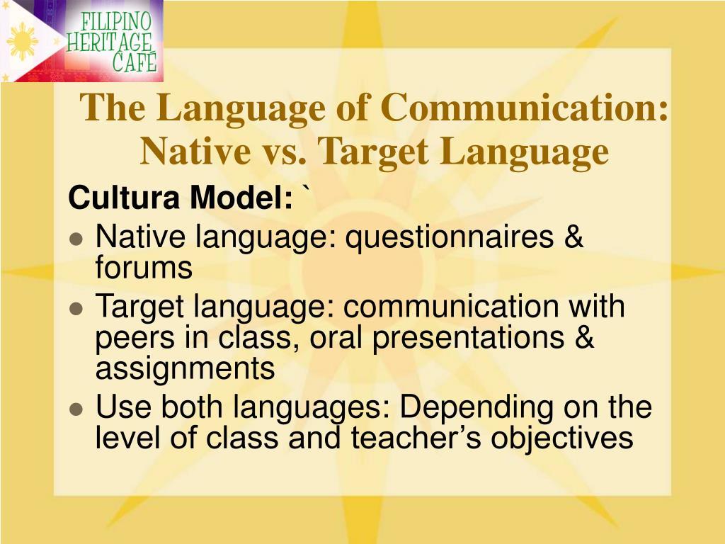 The Language of Communication: