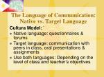 the language of communication native vs target language