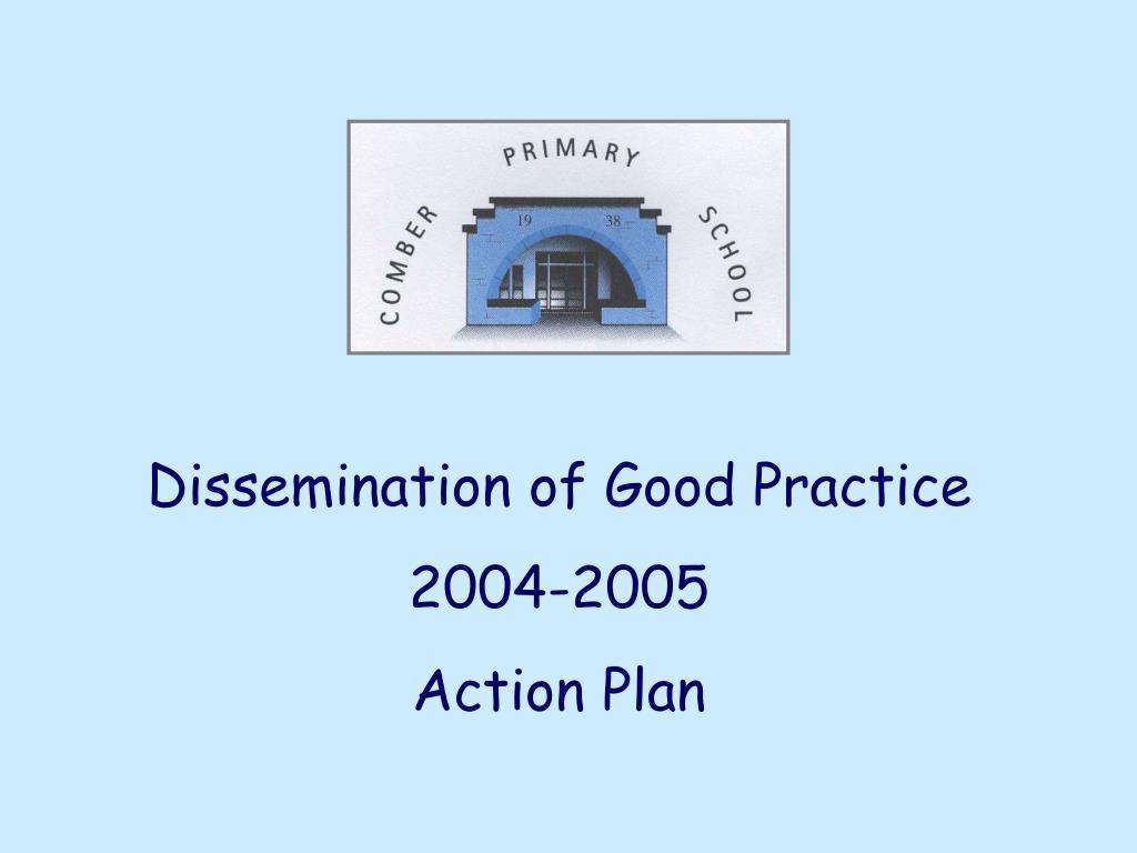 Dissemination of Good Practice