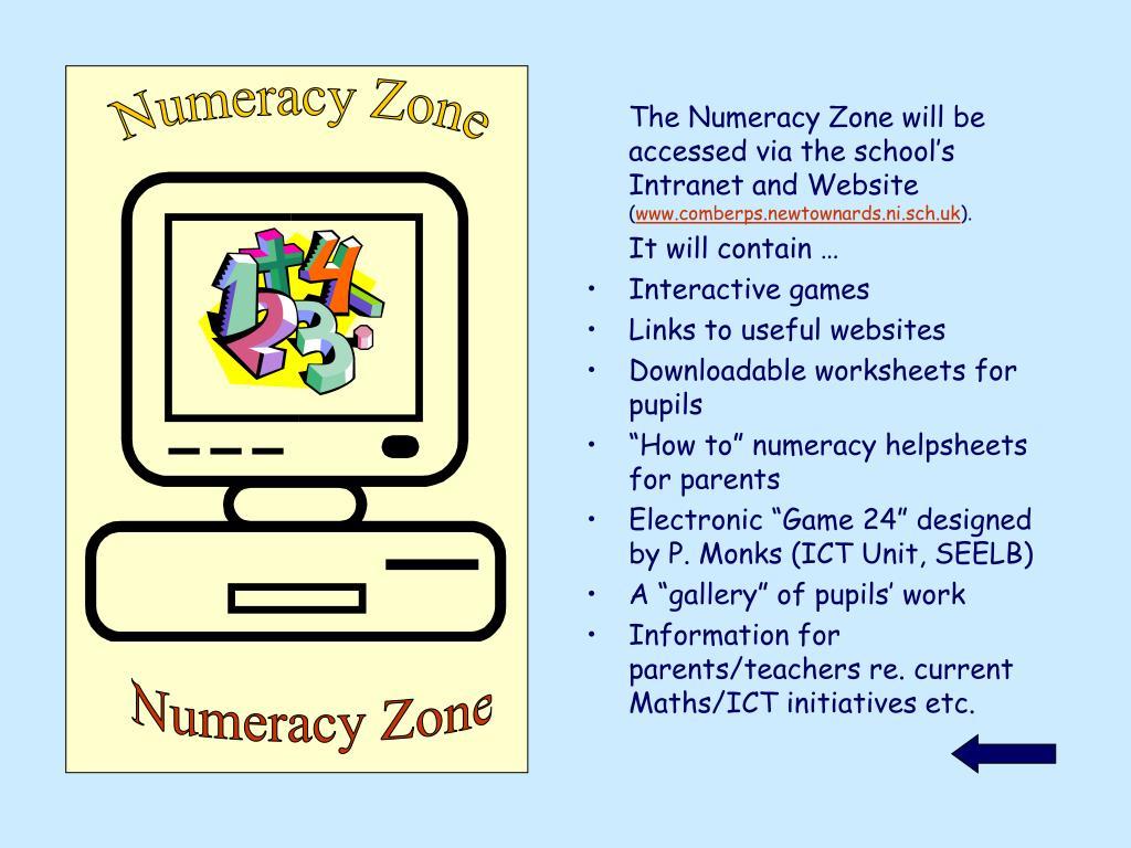 Numeracy Zone