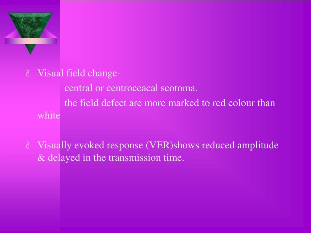 Visual field change-