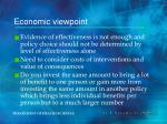 economic viewpoint