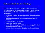 external audit review findings