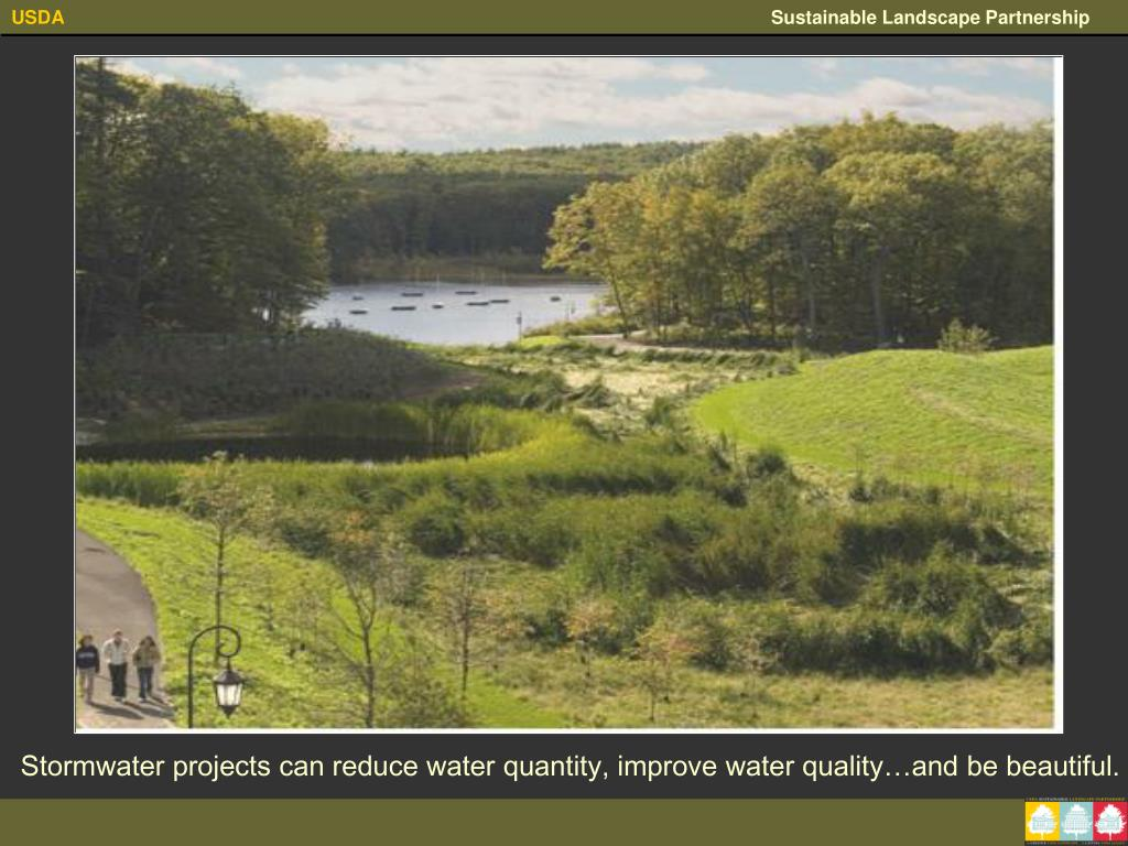 Stormwater projects can reduce water quantity, improve water quality…and be beautiful.