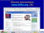 internet interventions www dipex org uk