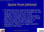 quote from johnson