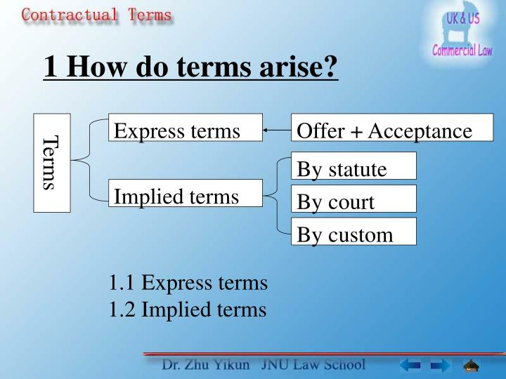 1 how do terms arise