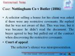 case nottingham co v butler 1886