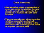 cost domains