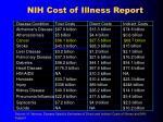 nih cost of illness report