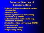 potential sources of economic data