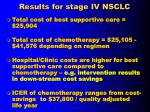 results for stage iv nsclc
