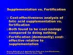 supplementation vs fortification