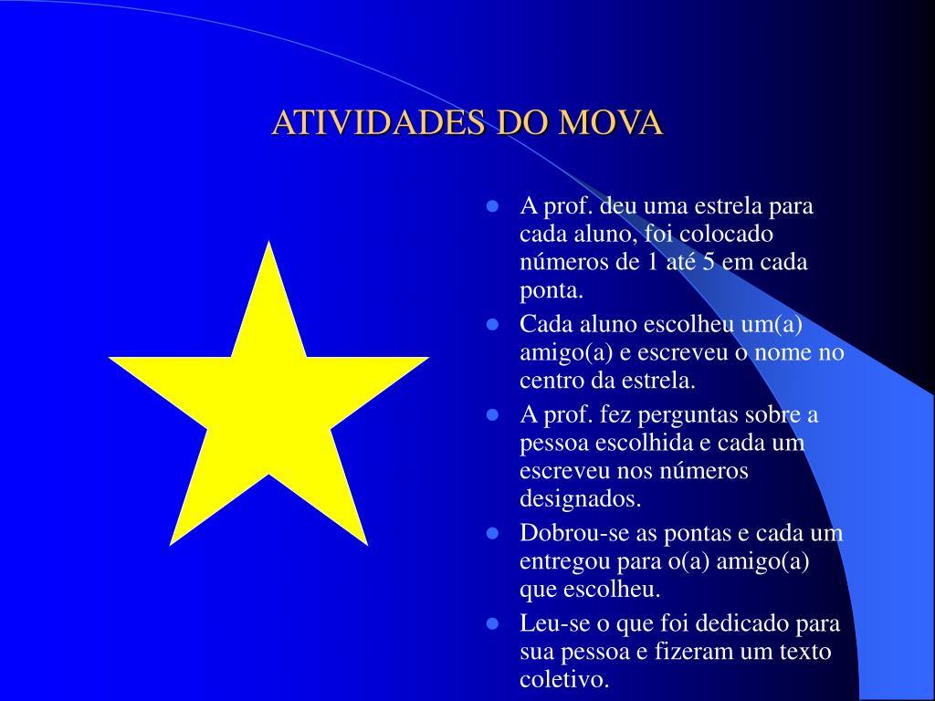 ATIVIDADES DO MOVA